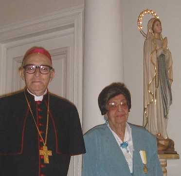 Nuncio with Esther Weinstein
